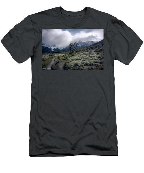 Men's T-Shirt (Slim Fit) featuring the photograph The Tree In The Wind by Andrew Matwijec