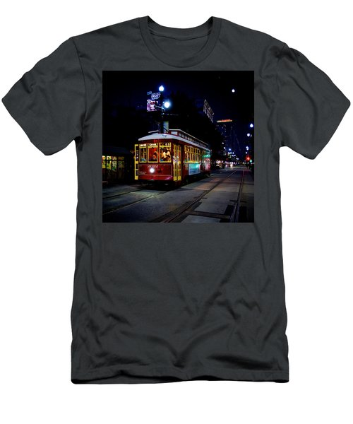 Men's T-Shirt (Slim Fit) featuring the photograph The Trolley by Evgeny Vasenev