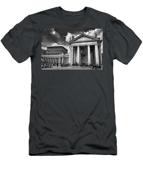 The Tuscan Colonnades In The Vatican Men's T-Shirt (Athletic Fit)