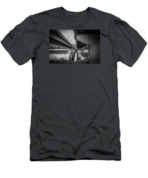 The Underside Of Two Bridges Men's T-Shirt (Athletic Fit)