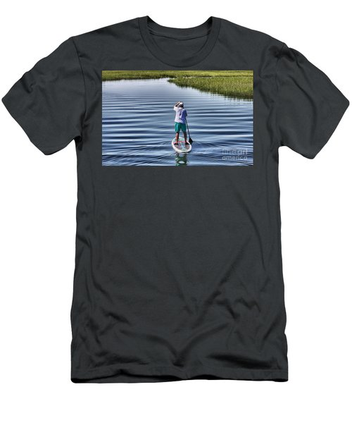 The View From A Bridge Men's T-Shirt (Slim Fit) by Phil Mancuso