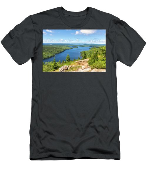 Men's T-Shirt (Athletic Fit) featuring the photograph The View From Beech Mountain by John M Bailey