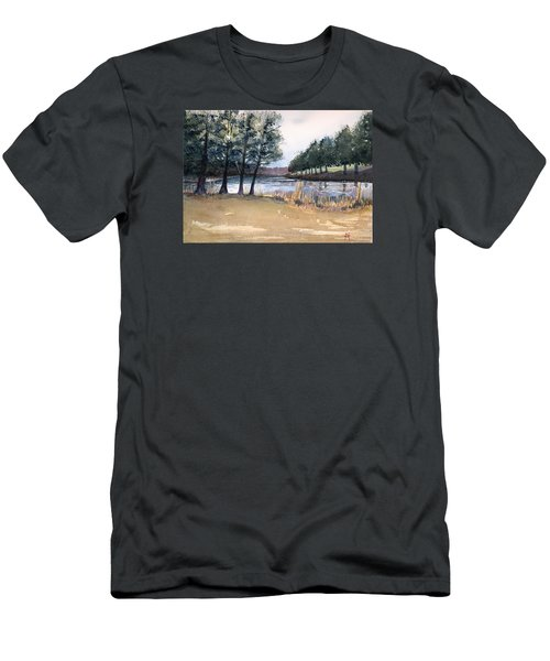 The View From Switchboard Men's T-Shirt (Slim Fit) by Katherine Miller