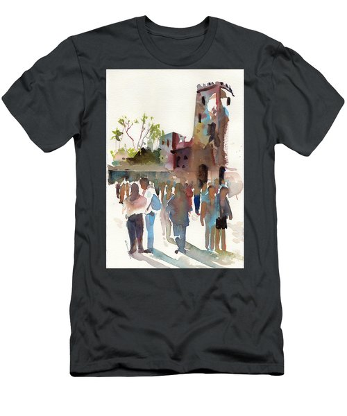 The Visitors Men's T-Shirt (Slim Fit) by P Anthony Visco
