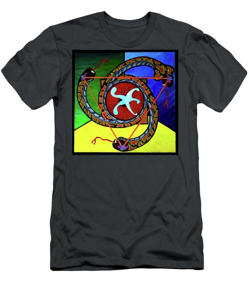 Men's T-Shirt (Athletic Fit) featuring the painting The Vitruvian Serpent by Rufus J Jhonson