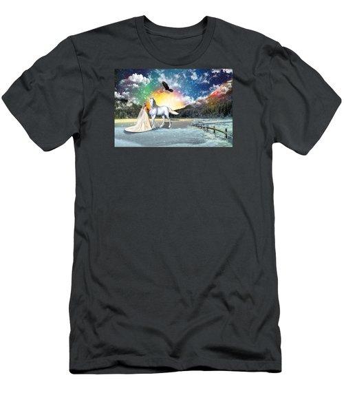 The Waiting Bride Men's T-Shirt (Slim Fit) by Dolores Develde