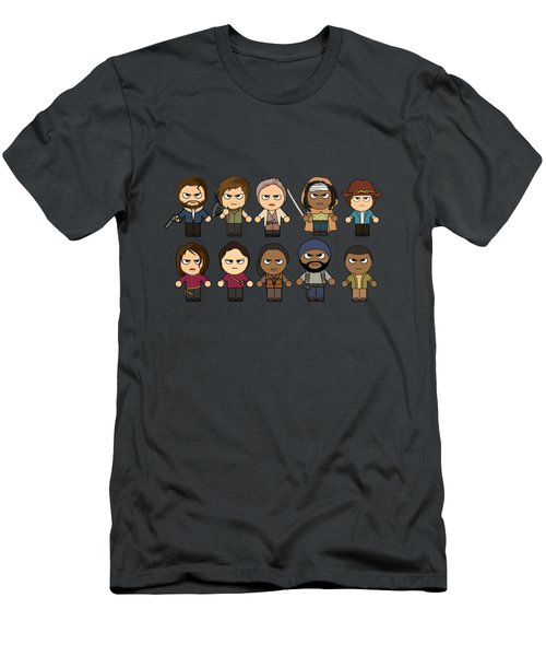 The Walking Dead - Main Characters Chibi - Amc Walking Dead - Manga Dead Men's T-Shirt (Athletic Fit)