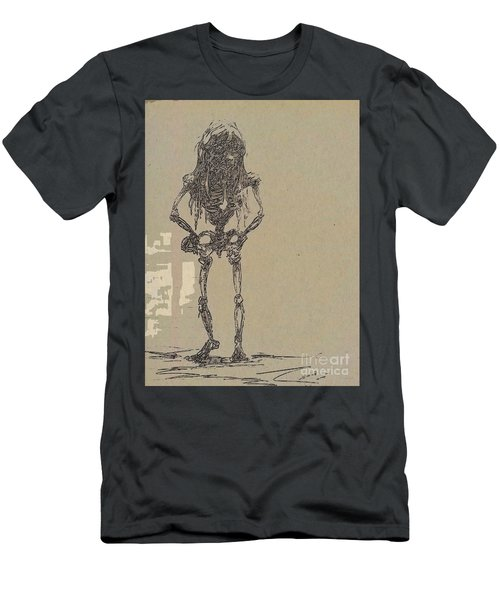 Men's T-Shirt (Athletic Fit) featuring the drawing The Walking Dead by Reed Novotny