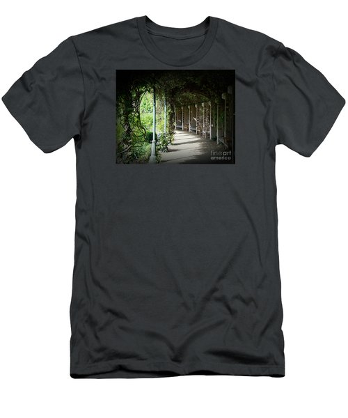 Men's T-Shirt (Slim Fit) featuring the photograph The Walkway by Lisa L Silva