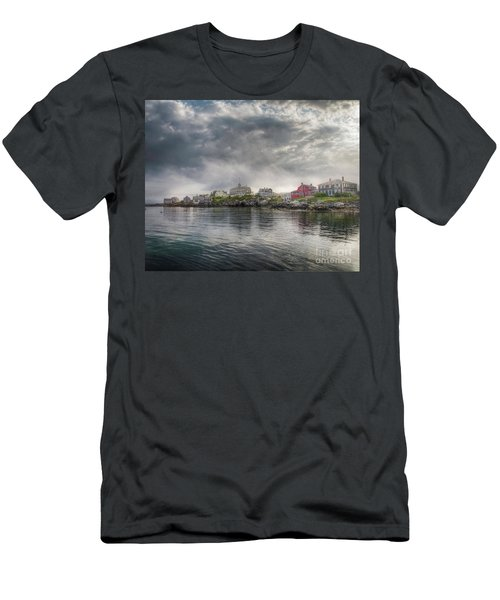 Monhegan Harbor View Men's T-Shirt (Athletic Fit)