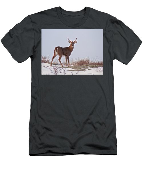 The Watchful Deer Men's T-Shirt (Slim Fit) by Nancy De Flon