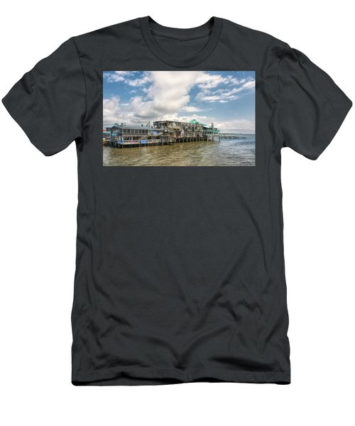 Men's T-Shirt (Athletic Fit) featuring the photograph The Wharf At Cedar Key by John M Bailey