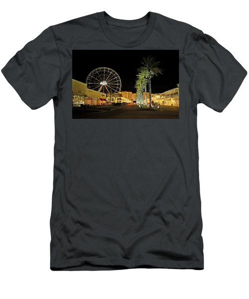The Wharf At Night  Men's T-Shirt (Athletic Fit)