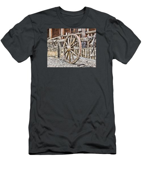 Men's T-Shirt (Slim Fit) featuring the photograph The Wheel Rolls On by B Wayne Mullins
