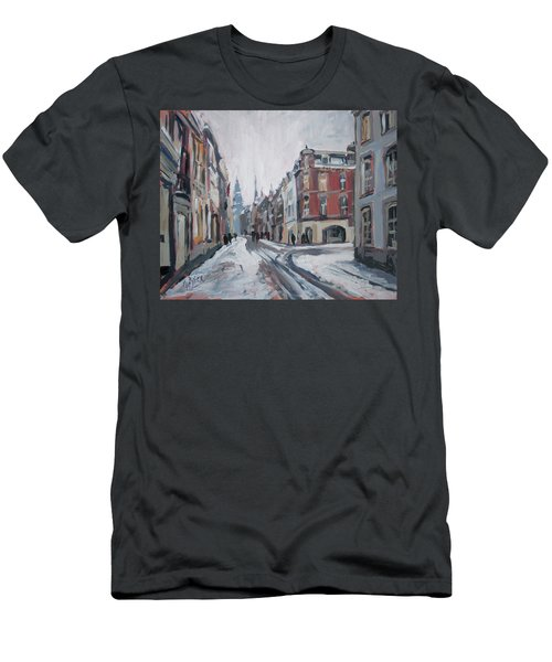 The White Grand Canal Street Maastricht Men's T-Shirt (Slim Fit) by Nop Briex
