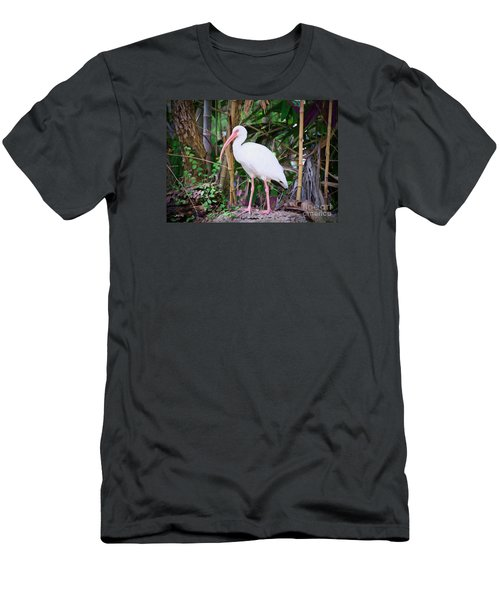 Men's T-Shirt (Slim Fit) featuring the painting The White Ibis by Judy Kay