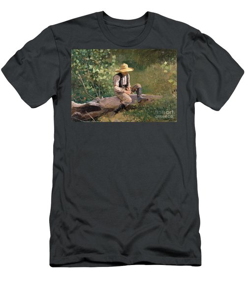 The Whittling Boy Men's T-Shirt (Athletic Fit)
