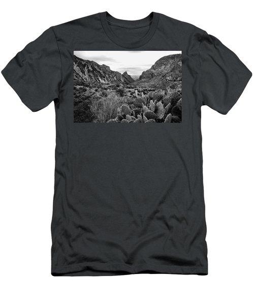 The Window 2 Black And White Men's T-Shirt (Athletic Fit)