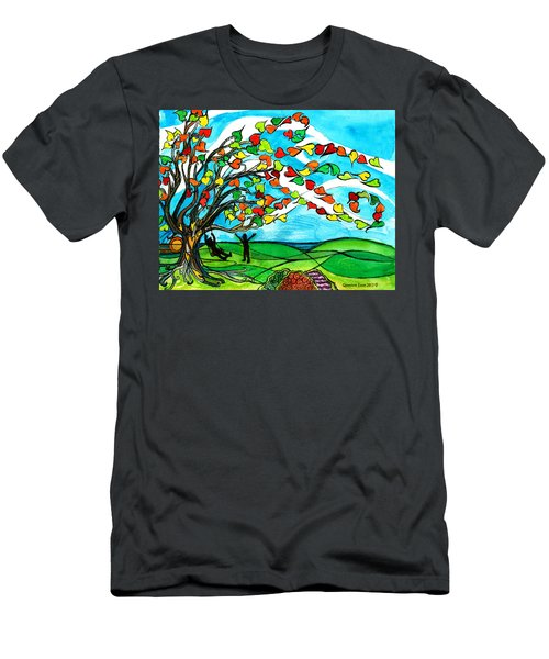 The Windy Tree Men's T-Shirt (Slim Fit) by Genevieve Esson