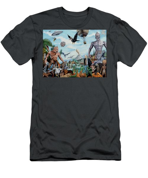 The World Of Ray Harryhausen Men's T-Shirt (Slim Fit) by Tony Banos