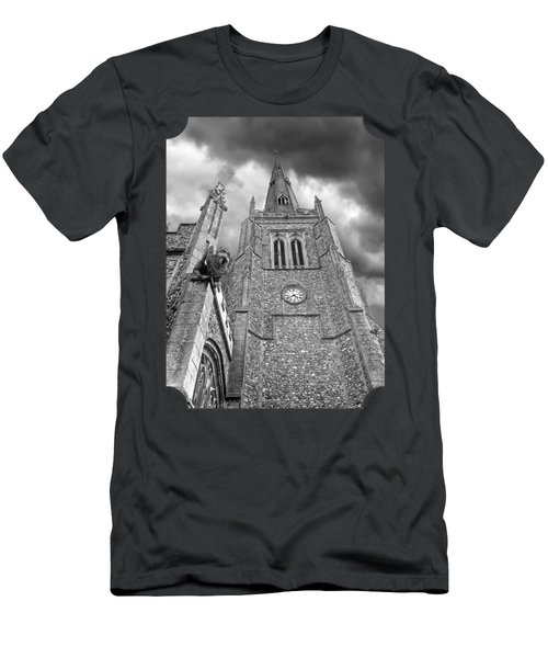 The Wrath Of God - Thaxted Church In Black And White Men's T-Shirt (Athletic Fit)