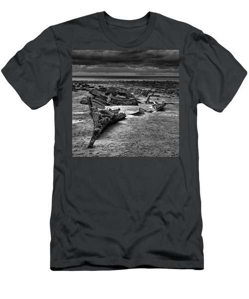 The Wreck Of The Steam Trawler Men's T-Shirt (Slim Fit) by John Edwards