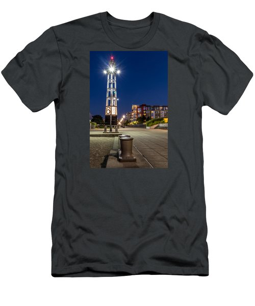 Men's T-Shirt (Slim Fit) featuring the photograph Thea's Landing Boardway During Blue Hour by Rob Green