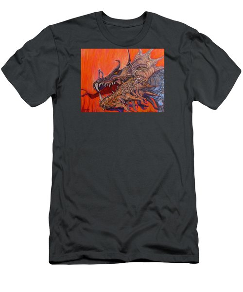 There Once Were Dragons Men's T-Shirt (Slim Fit) by Barbara O'Toole