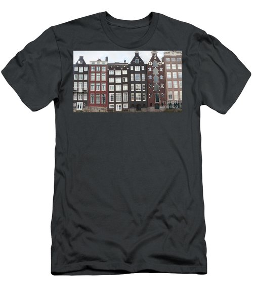 There Was A Crooked House Men's T-Shirt (Slim Fit) by Therese Alcorn