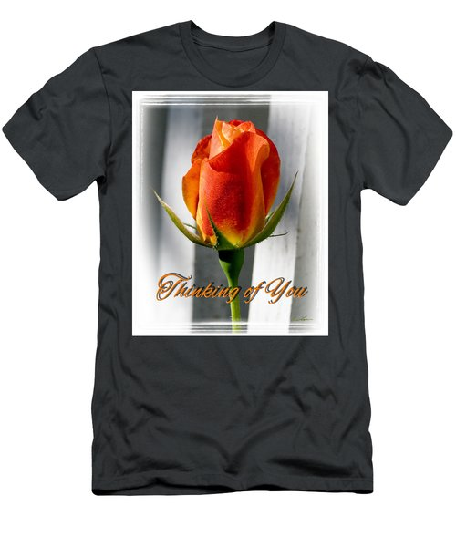 Thinking Of You, Rose Men's T-Shirt (Athletic Fit)