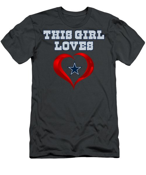This Girl Loves Dallas Cowboy Men's T-Shirt (Slim Fit) by Ming Chandra