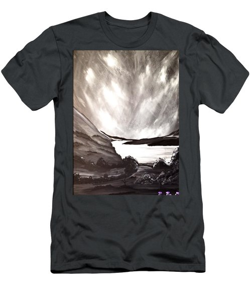 Men's T-Shirt (Slim Fit) featuring the painting Thistle Do Nicely by Scott Wilmot