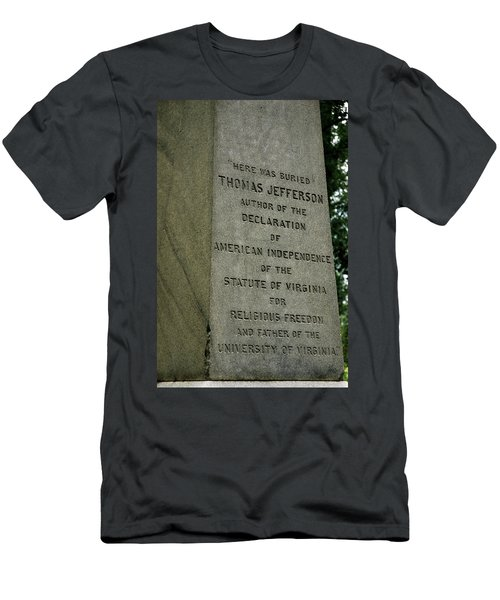 Thomas Jefferson Tombstone Close Up Men's T-Shirt (Athletic Fit)