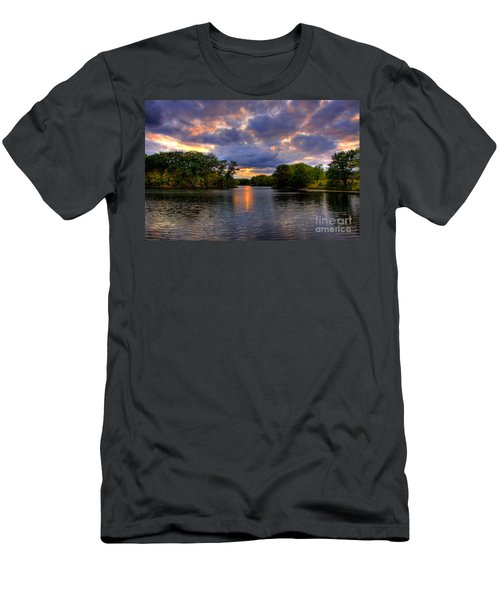 Thomas Lake Park In Eagan On A Glorious Summer Evening Men's T-Shirt (Athletic Fit)