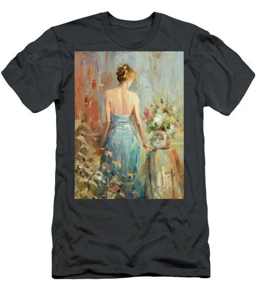 Men's T-Shirt (Athletic Fit) featuring the painting Thoughtful by Steve Henderson