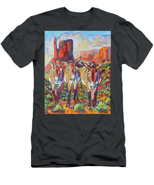 Three Amigos  Men's T-Shirt (Slim Fit) by Jenn Cunningham
