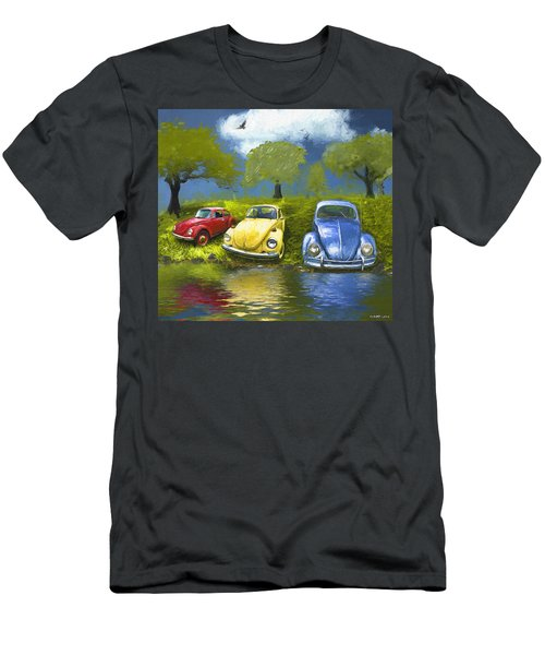 Three Bugs On A Hill Men's T-Shirt (Athletic Fit)