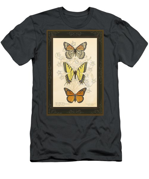 Three Butterflies Men's T-Shirt (Slim Fit)