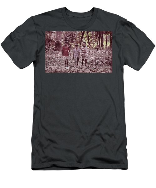 Men's T-Shirt (Slim Fit) featuring the photograph Three Campanions by Arik S Mintorogo