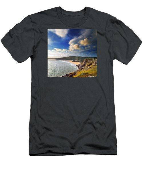 Three Cliffs Bay 1 Men's T-Shirt (Athletic Fit)