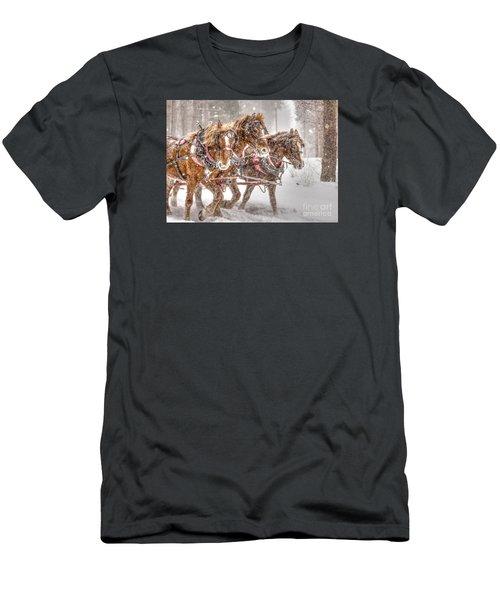 Three Horses - Color Men's T-Shirt (Athletic Fit)