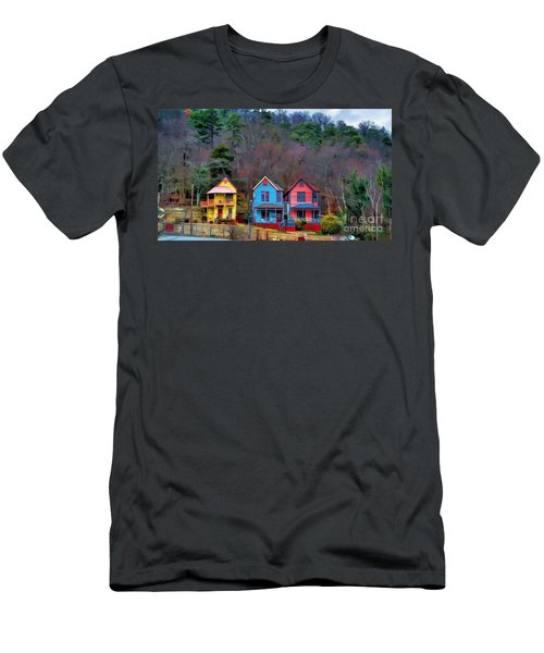 Three Houses Hot Springs Ar Men's T-Shirt (Athletic Fit)