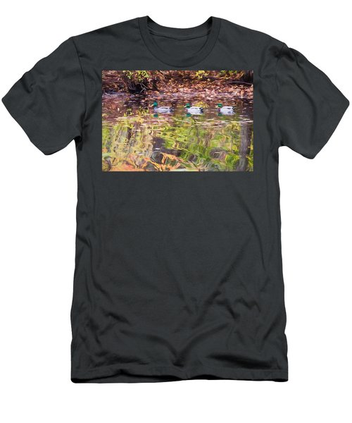 Three Mallards. Men's T-Shirt (Athletic Fit)