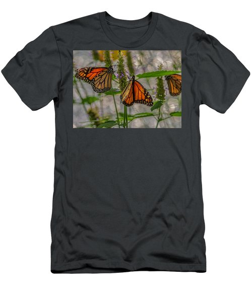 Three Monarch Butterfly Men's T-Shirt (Athletic Fit)
