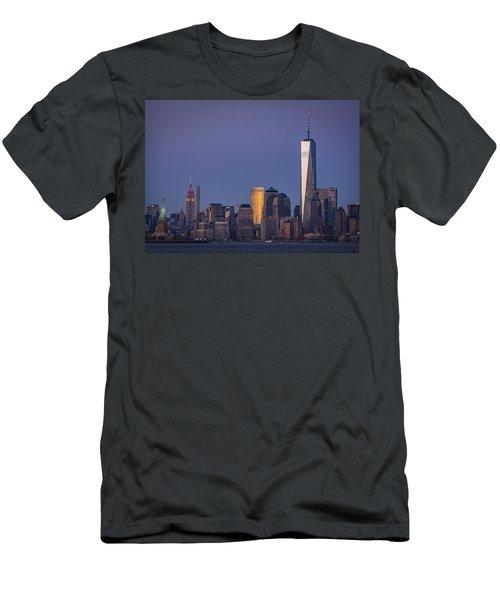Three New York Symbols Men's T-Shirt (Athletic Fit)