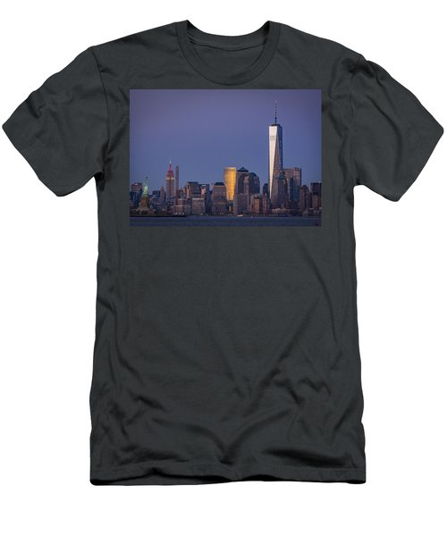 Three New York Symbols Men's T-Shirt (Athletic Fit)