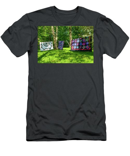 Three Quilts In The Breeze Men's T-Shirt (Athletic Fit)