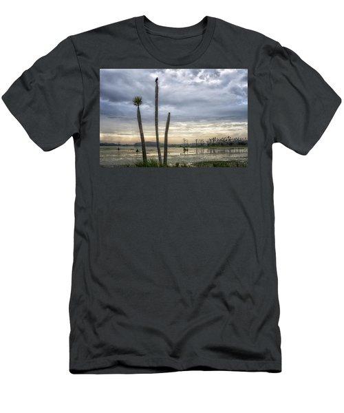 Three Sticks Men's T-Shirt (Athletic Fit)