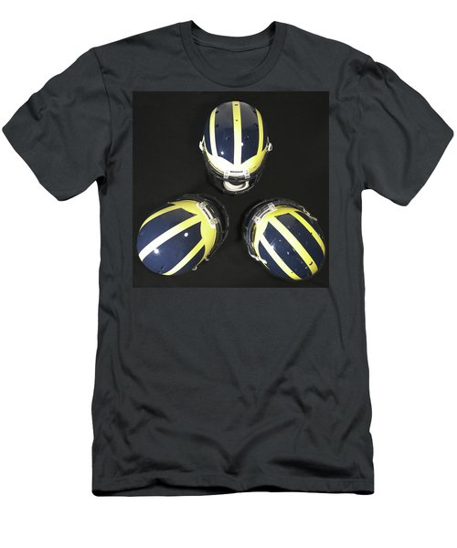 Three Striped Wolverine Helmets Men's T-Shirt (Athletic Fit)