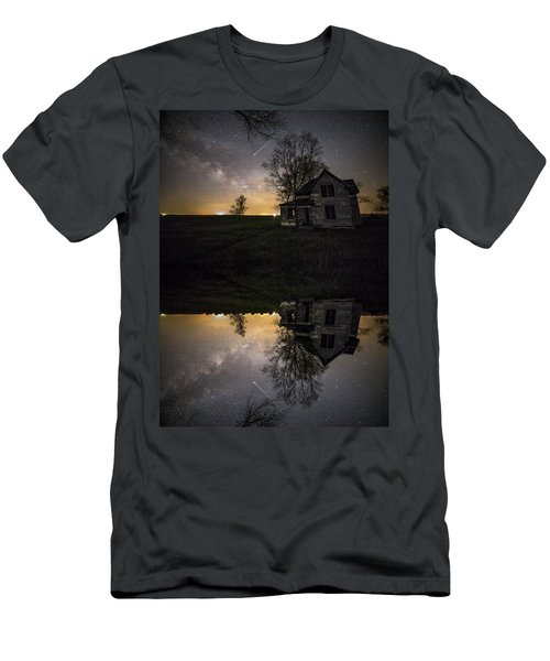 Men's T-Shirt (Athletic Fit) featuring the photograph Through A Mirror Darkly  by Aaron J Groen